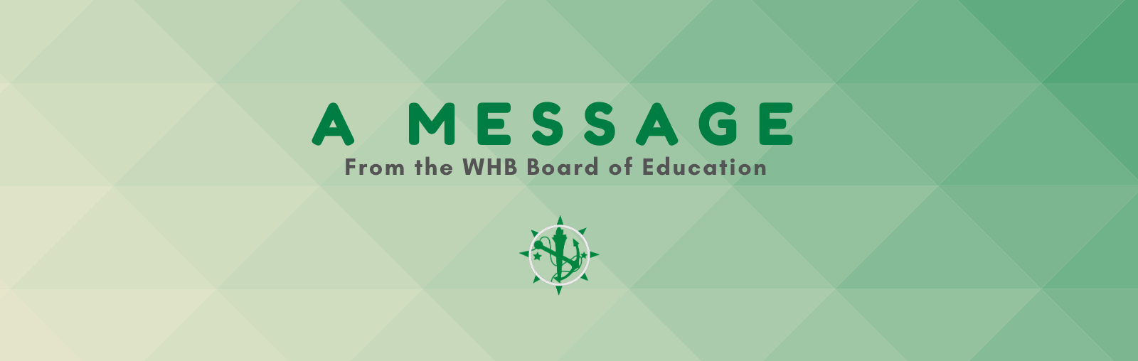 A Message from the Board of Education