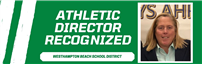 Athletic Director Kathleen Masterson recognized graphic and headshot thumbnail182660